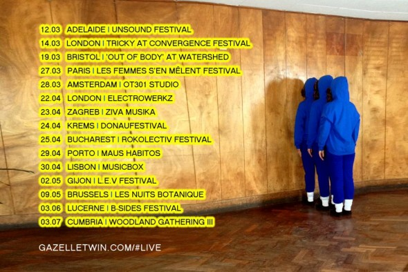 gazelle twin tour dates 2015